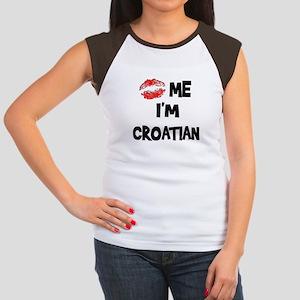 Kiss Me I'm Croatian Women's Cap Sleeve T-Shirt