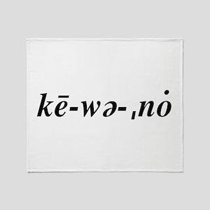 Ke·wee·naw Throw Blanket