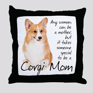 Pembroke Corgi Mom Throw Pillow