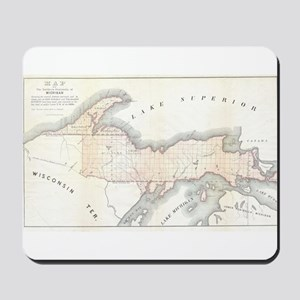 1849 Upper Peninsula Map Mousepad