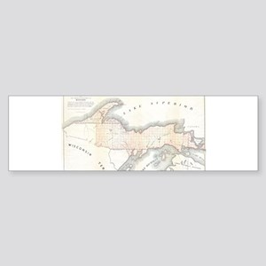1849 Upper Peninsula Map Sticker (Bumper 50 pk)