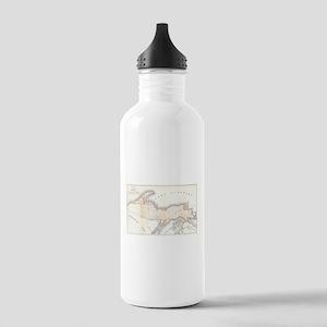 1849 Upper Peninsula Map Stainless Water Bottle 1.