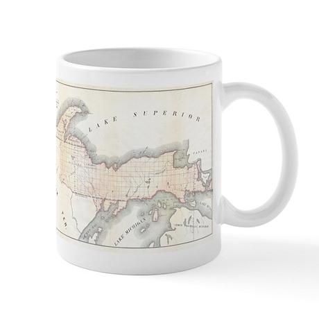 1849 Upper Peninsula Map Mug