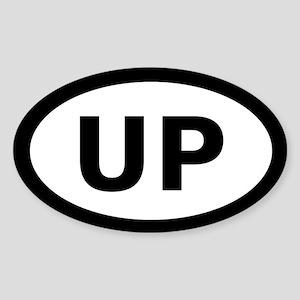 U.P. Oval Sticker