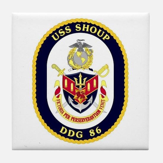 USS Shoup DDG 86 Tile Coaster