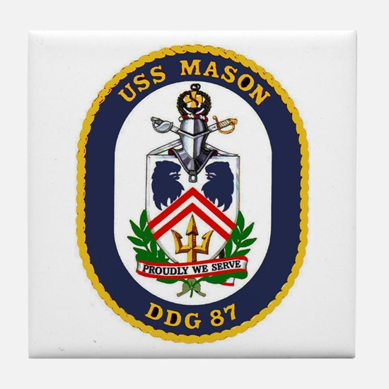 USS Mason DDG 87 Tile Coaster