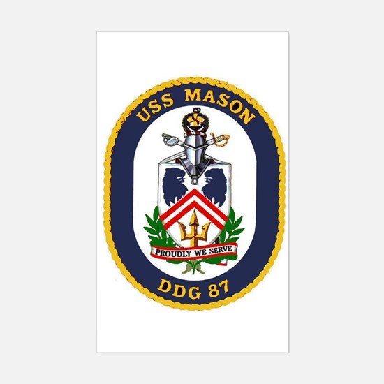 USS Mason DDG 87 Rectangle Decal