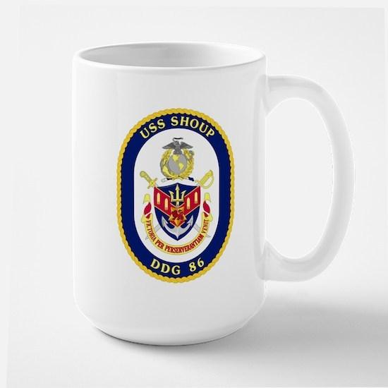 USS Shoup DDG 86 Large Mug