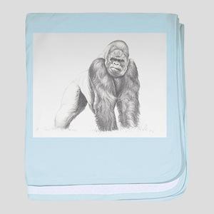 Tatu gorilla portrait baby blanket