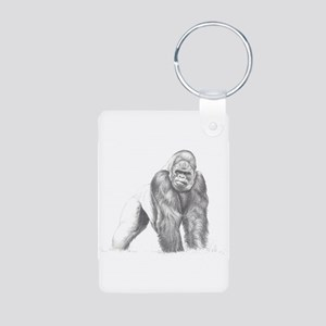 Tatu gorilla portrait Aluminum Photo Keychain