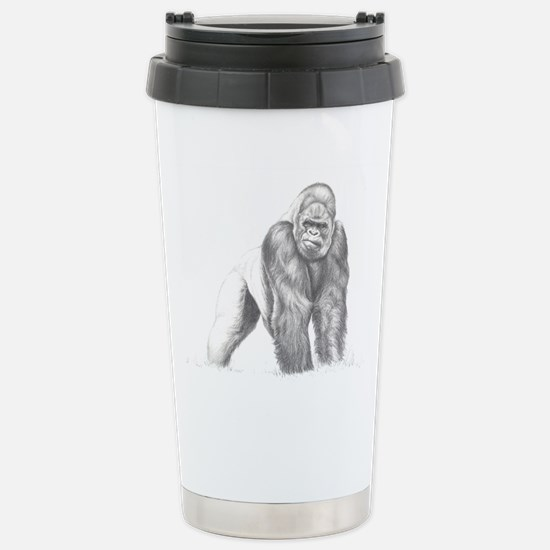 Tatu gorilla portrait Stainless Steel Travel Mug