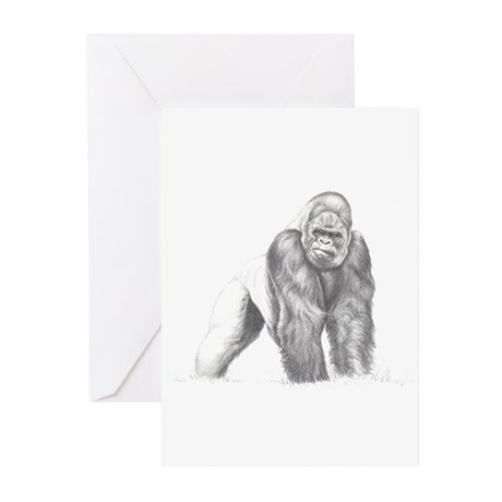 Tatu gorilla portrait Greeting Cards (Pk of 20)