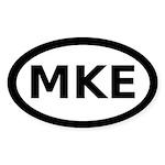 MKE Milwaukee Oval Sticker (10 pk)