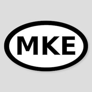 MKE Milwaukee Oval Sticker