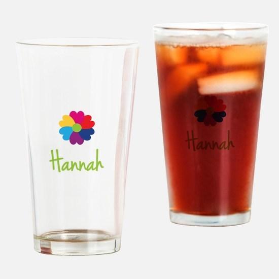 Hannah Valentine Flower Drinking Glass