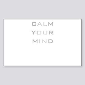 Calm Your Mind Sticker (Rectangle)
