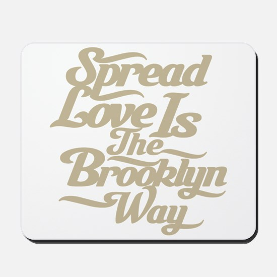Brooklyn Love Tan Mousepad