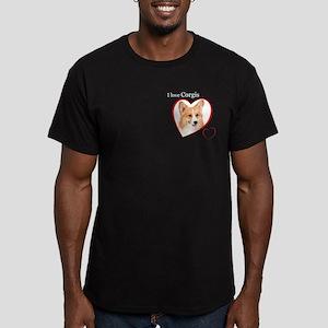 I Love Corgis #2 Men's Fitted T-Shirt (dark)