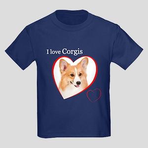 I Love Corgis #2 Kids Dark T-Shirt
