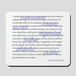 Thoreau's mouse pad