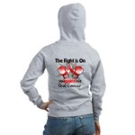Fight is On Oral Cancer Women's Zip Hoodie