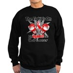 Fight is On Oral Cancer Sweatshirt (dark)