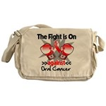 Fight is On Oral Cancer Messenger Bag