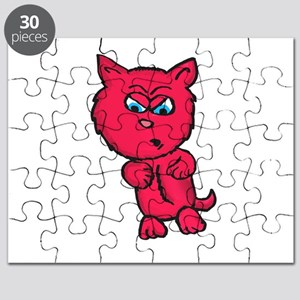 Angry Pink Kitty Puzzle