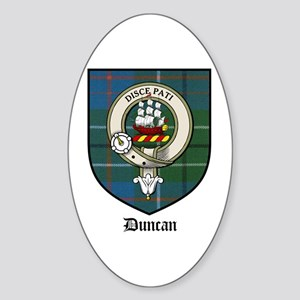 Duncan Clan Crest Tartan Oval Sticker