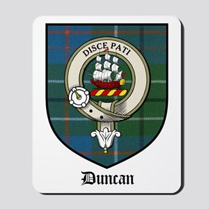 Duncan Clan Crest Tartan Mousepad