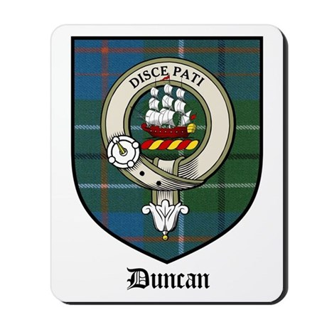 60th Anniversary Gifts >> Duncan Clan Crest Tartan Mousepad by coatofarmscrest