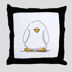 Ghost penguin Throw Pillow