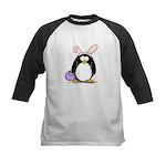 Easter penguin Kids Baseball Jersey