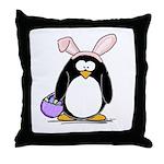 Easter penguin Throw Pillow