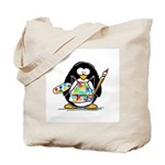 Artist penguin Tote Bag