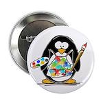 Artist penguin Button