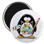 Artist penguin Magnet