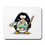 Artist penguin Mousepad