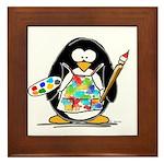Artist penguin Framed Tile