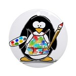 Artist penguin Ornament (Round)