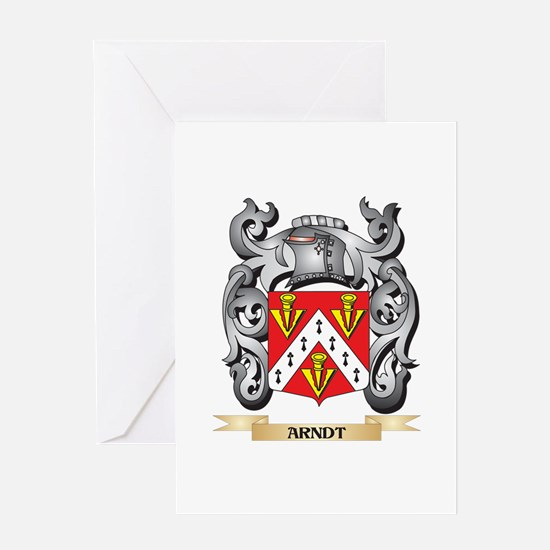 Arndt Family Crest - Arndt Coat of Greeting Cards