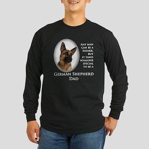 German Shepherd Dad Long Sleeve Dark T-Shirt