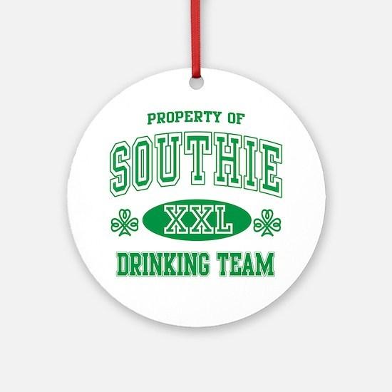 Southie Irish Drinking Team Ornament (Round)