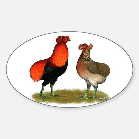 Araucana Chickens Sticker (Oval)