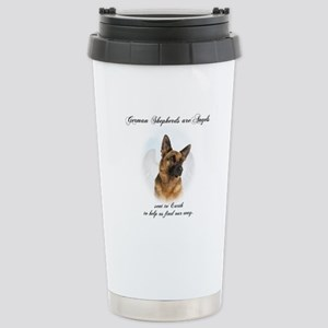 German Shepherd Angel Stainless Steel Travel Mug