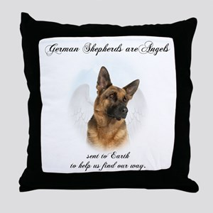 German Shepherd Angel Throw Pillow