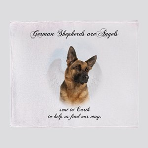 German Shepherd Angel Throw Blanket