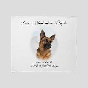German Shepherd Angel Throw Blanket