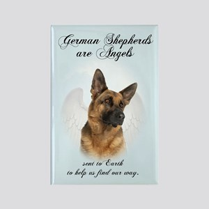 German Shepherd Angel Rectangle Magnet