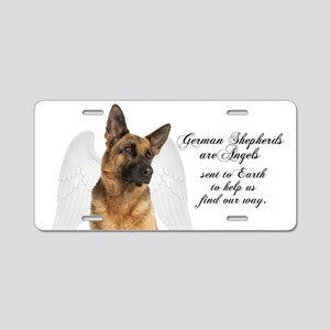 German Shepherd Angel Aluminum License Plate